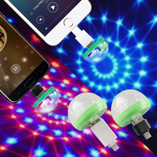 2019 new USB stage Colorful Bulbs DJ Light LED Auta Rotating Lamps stage light Mobile phone Stage Light D25