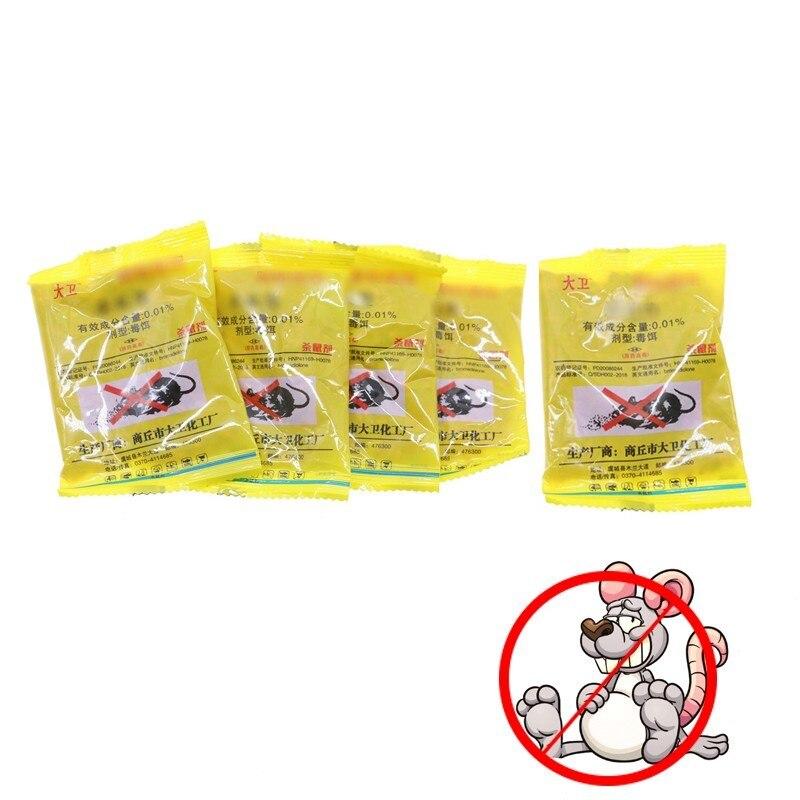 5pcs/lot Mouse Toxicity Rat Poison Colony Killing Bait 25g Trap Pest Contronl Rat Poison Poisoning