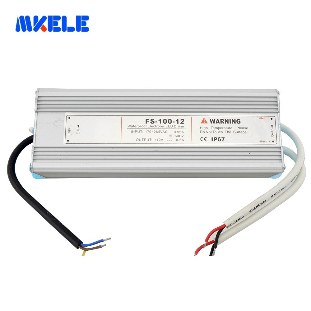100 w 5 v 12 v 15 v 24 v 48 v étanche alimentation IP67 transformateur Led pilote pour bande Led de Makerele