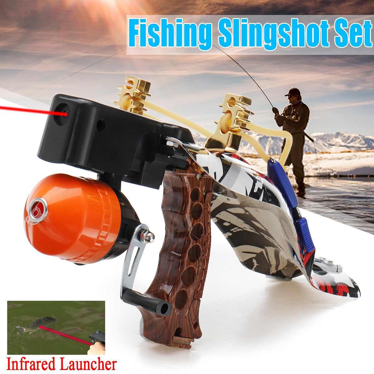 Lance-pierre infrarouge extérieur pêche chasse Set Pro pêche tir flèche catapulte lanceur ou pêche en plein air chasse précise