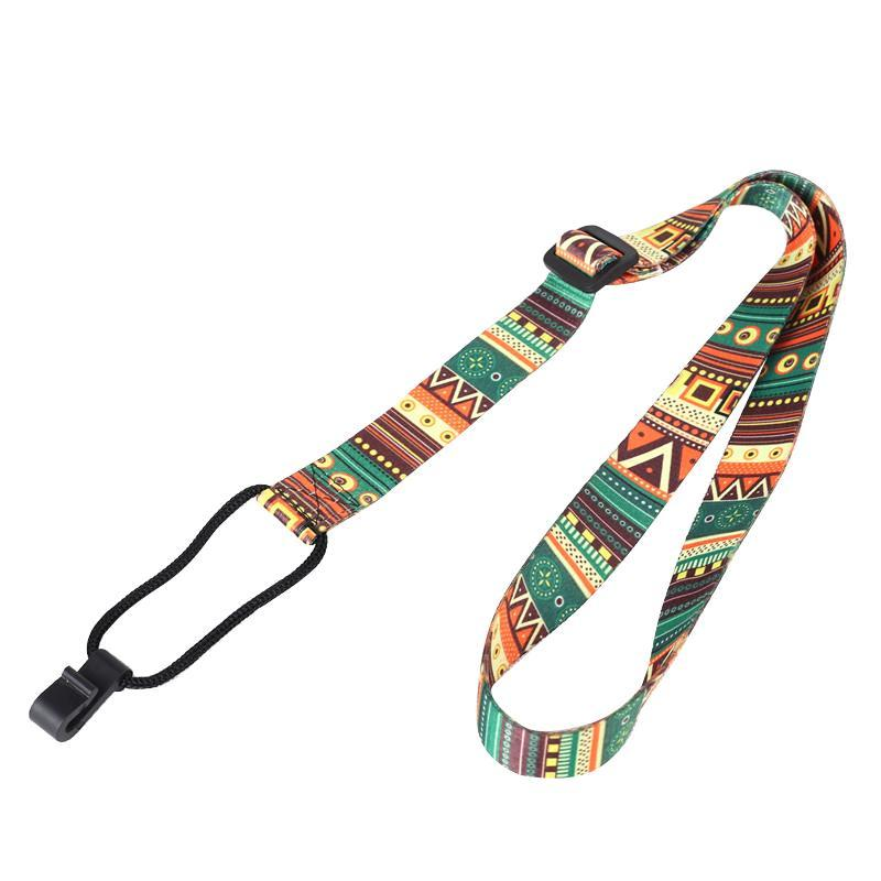 Adjustable Guitar Strap Ethnic Pattern Ribbon Ukulele Strap Belt Durable Sling With Hook Ukulele Guitar Accessories