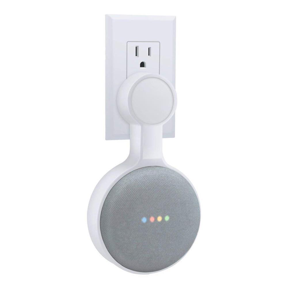 Image 4 - Для Google HomeMini голос помощник Outlet настенный держатель шнур управление кронштейн Plug In кухня спальня Высокое качество Новый-in Аксессуары для аудиосистем from Бытовая электроника