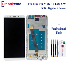 With Frame For Huawei Mate 10 Lite LCD Display+Touch Screen+Frame 5.9 Inch Digitizer Screen Glass Panel Assembly Replacement