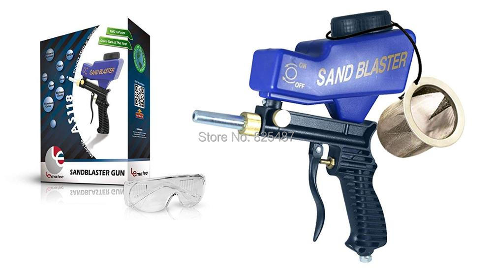 LEMATEC Air Sandblaster Gun For Remove Rust Paint Dirt Portable Sand Blaster Gun Sodablasting Air Tools Free Shipping