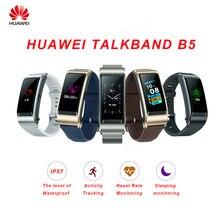 Huawei TalkBand B5 Bracelet de conversation Bracelet intelligent sport portable Bluetooth bracelets tactile AMOLED écran appel écouteur bande