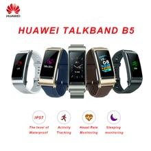 Huawei TalkBand B5 Talk Band Smart Bracelet Wearable Sports Bluetooth Wristbands Touch AMOLED Screen Call Earphone Band