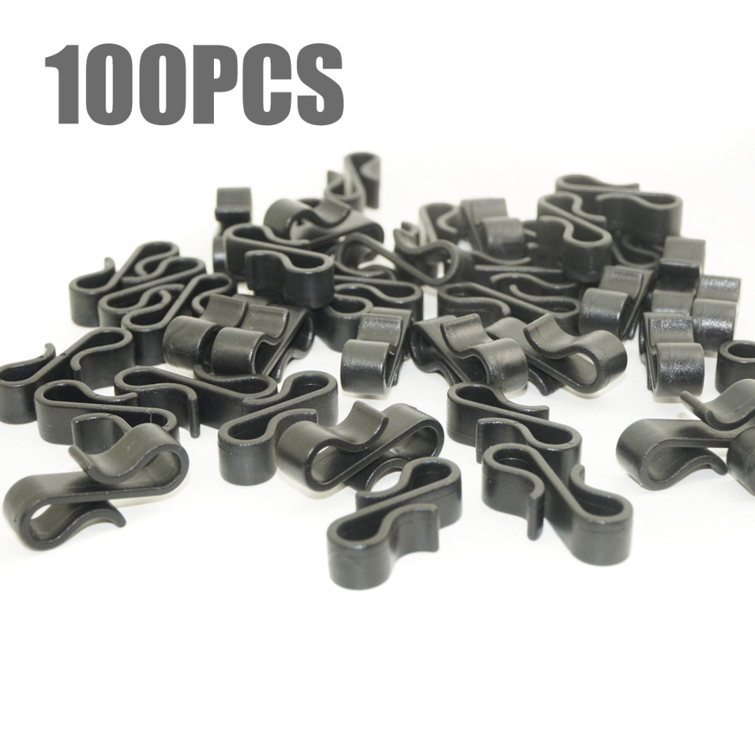 Mayitr Gutter Hooks Heavy Duty Clips New Year Christmas Party Fairy Lights Decoration Clip Tools Parts 10/50/100pcs