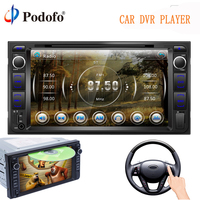 Podofo 2 Din DVD Player 7 Multimedia Player 2din car radio Autoradio Bluetooth USB MP5 DVD FM audio stereo For Toyota Corolla