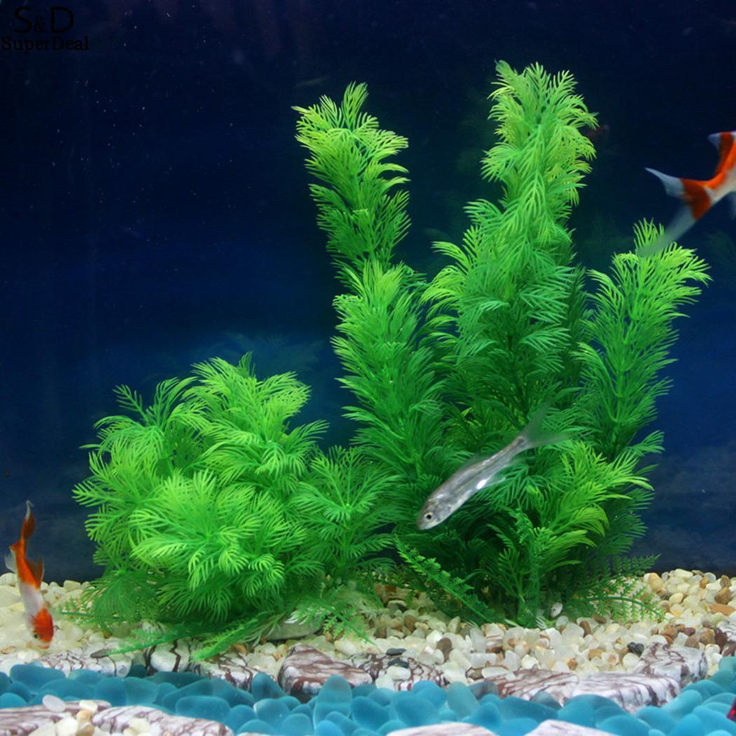Green Artificial Plastic Grass Tree Water Tank, Aquarium, etc Plant 50g Fish Tank Aquarium Decoration
