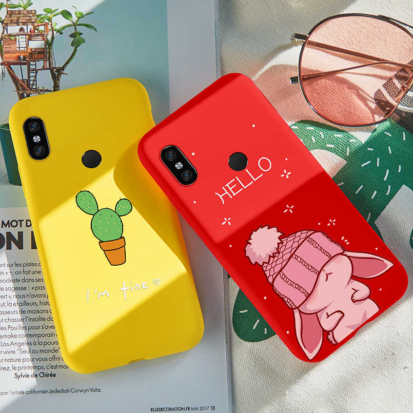 Silikonowa obudowa do xiaomi Redmi Note 7 Cute Cartoon etui etui na xiaomi Redmi 6A 5 5 Plus uwaga 5 6 Pro 4X okładka Fundas Coques