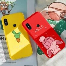 Silicone Case For Xiaomi Redmi Note 7 Cute Cartoon Case Cover For Xiaomi Redmi 6A 5 5 Plus Note 5 6 Pro 4X Cover Fundas Coques все цены