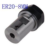 Eixo do motor pinça chuck er20 a 8mm extensão haste titular ferramenta titular cnc fresagem eixo do motor ferramenta titular