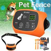 Wireless 1~3 Dog Fence No Wire Pet Containment System Rechargeable Waterproof GPS Dog Fences Set