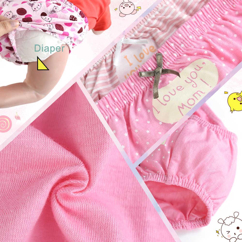 ZukoCert 5-Pack Kind der Unterwäsche Baby Panty Höschen für Jungen Mädchen Candy Farben Karte Liebe Cartoon Tier Muster für 0-36 Monate