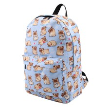 Girl backpacks for school with  pug print