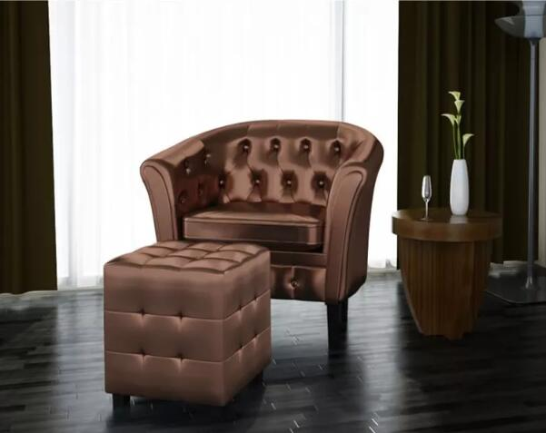 Vidaxl artificial leather barrel tub chair armchair club bar