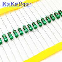 50 unids/lote 0410 Inductor 100UH 120UH 150UH 180UH 220UH 270UH 330UH 390UH 470UH 560UH 680UH 820UH 1/2W anillo de color inductor