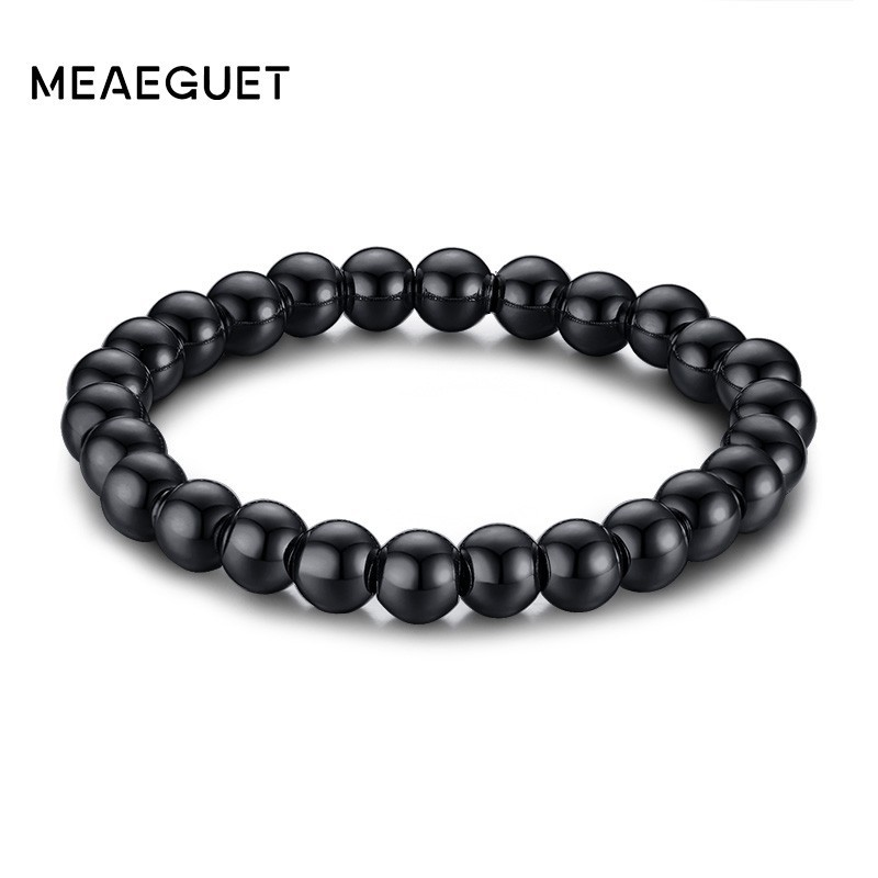 Classic Stainless Steel Man Bracelet Braslet In Solid Black Gold Silver Color Men Jewellery Holiday Gifts