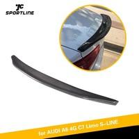 Rear Spoiler Trunk Boot Lip Wing Lid For Audi A6 A6Q C7 2012 2018 Carbon Fiber Rear Trunk Spoiler Boot Wing Lip