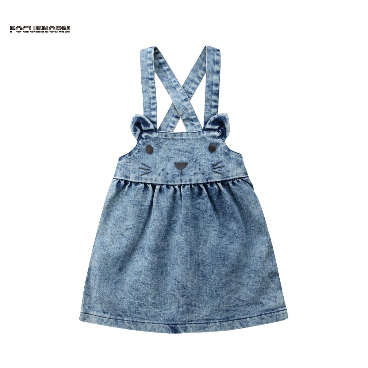 0-5 Jahre Mädchen Sommer Blau Overalls Rock Niedlichen Kaninchen Strumpf Röcke Schöne Baby Mädchen Kleidung Weich Und Leicht