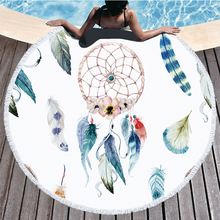 colorful leaves Tropical Tassel Round Beach Towel Bath Towel Microfibre Shower Compressed Bathroom Towels Bath Towels for Adults tropical printed bath towel beach towel tassel round microfibre compressed travel bathroom towels bath towels for adults shower