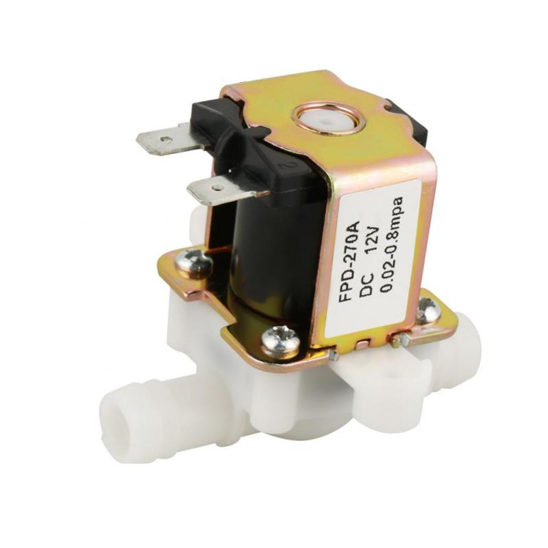 Hot DC12V OD 12mm Electric Solenoid Valve Plastic Electromagnetic Valve Normally Closed Water Inlet Flow Switch