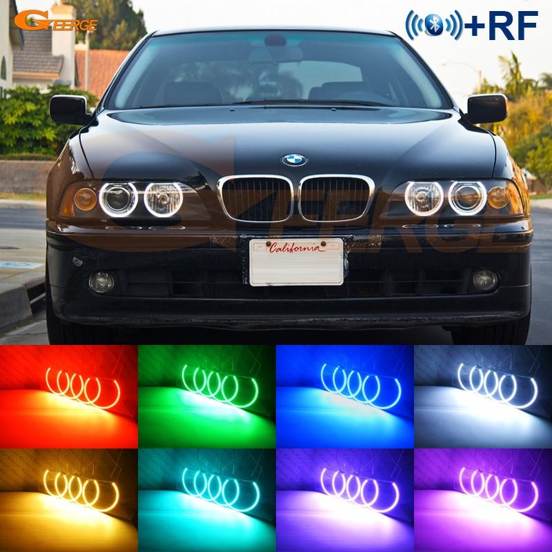 Pour BMW E39 540i 530i 528i 525i 523i M5 2000-2003 post-lifting phare RF Bluetooth contrôleur multicolore RGB led angel eyes