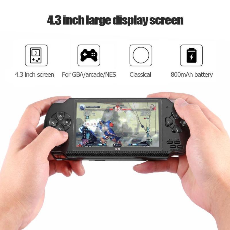 Lecteur portatif de Machine de jeu de mémoire de la Console 8G de jeu vidéo de 4.3 pouces avec le câble de chargement d'usb pour GBA