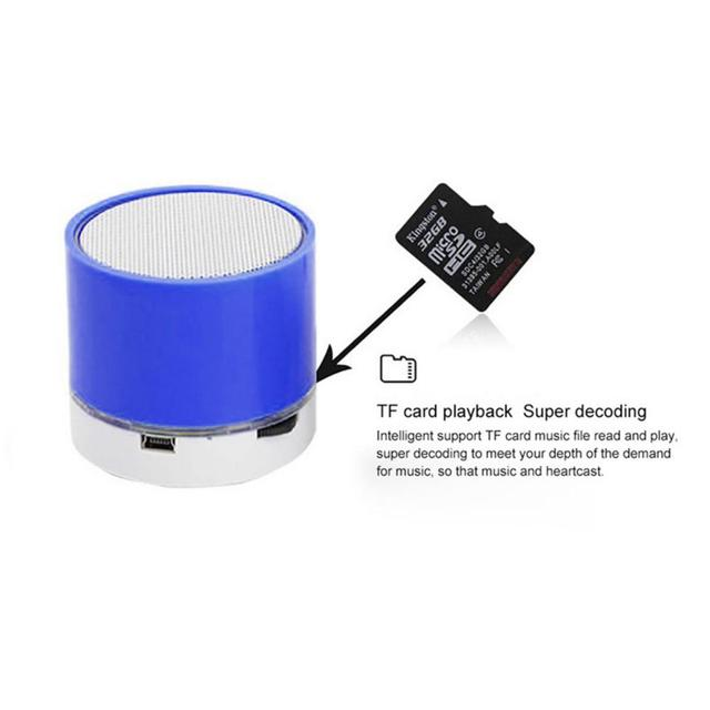 S10 Mini Wireless Outdoor Bluetooth Speaker Support U Disk TF Card Universal Mobile Phone Music Portable Woofer 1