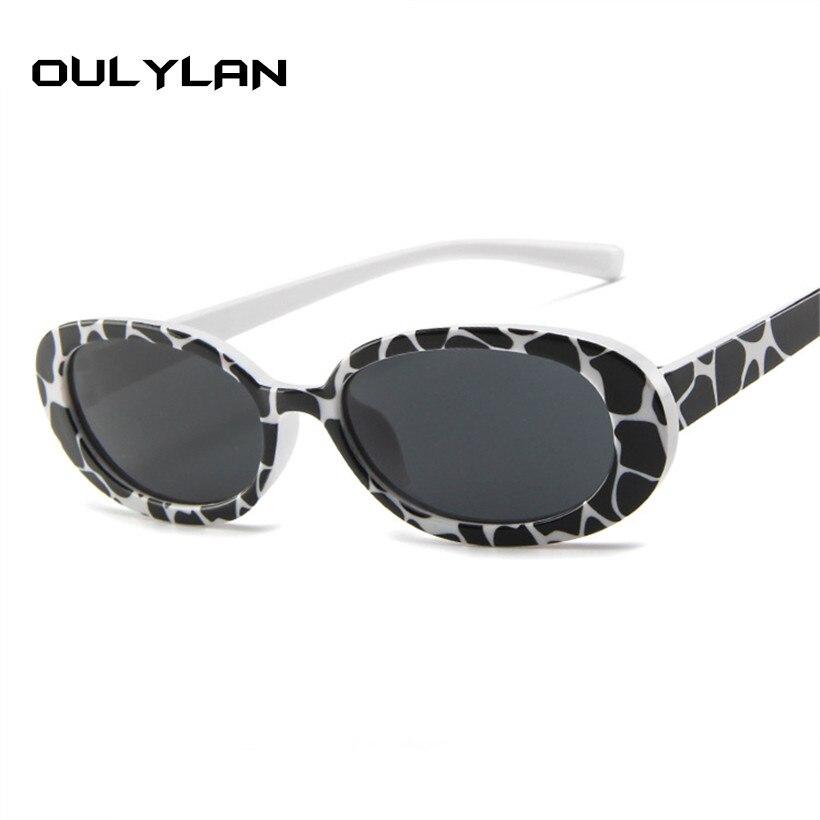Oulylan 90 s Oval Óculos De Sol Das Mulheres Marca De Luxo Pequeno Óculos  Rosa Óculos 7940991fbe