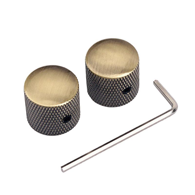 Professional guitar volume tone control knob dome metal volume knob switch cap