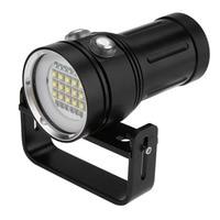 15 x L2 Underwater LED Flashlight Bright LED Diving Flashlight Aluminum Alloy Torch linterna Video Photography Portable Light