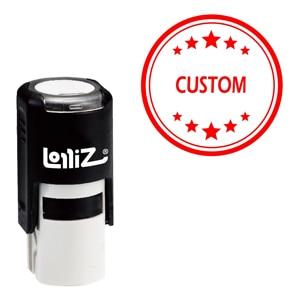 Image 1 - LolliZ Custom Ronde Kantoor Sterren Een Lijn Zelfinktende Stempel