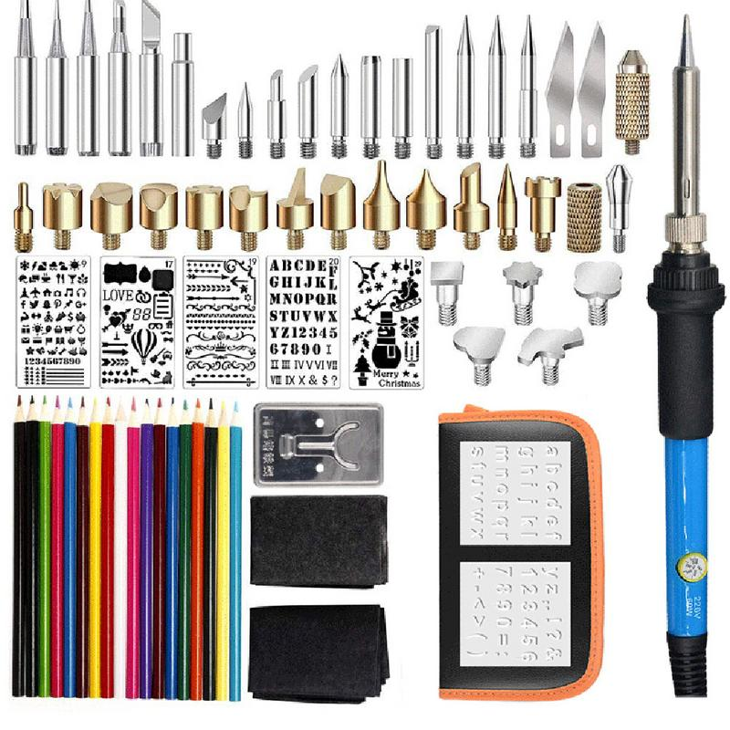 71 sets of adjustable temperature soldering iron set Engraving and painting soldering tools Color lead soldering iron set