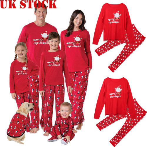 NEW Family Matching Christmas Pyjamas Xmas Festive Nightwear Pajamas PJs Sets UK