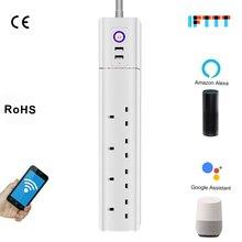 Wi-Fi WiFi Wlan UK Plug Smart Power Strip Switch USB Extension Socket For Amazon Alexa Echo Google Assistant Homekit Mini IFTTT