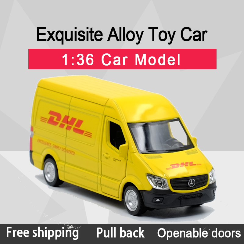 RMZ CITY 1:36 Sprinter Van (DHL) Alloy Diecast Car Model Toy With Pull Back For Children Gifts Toy Collection