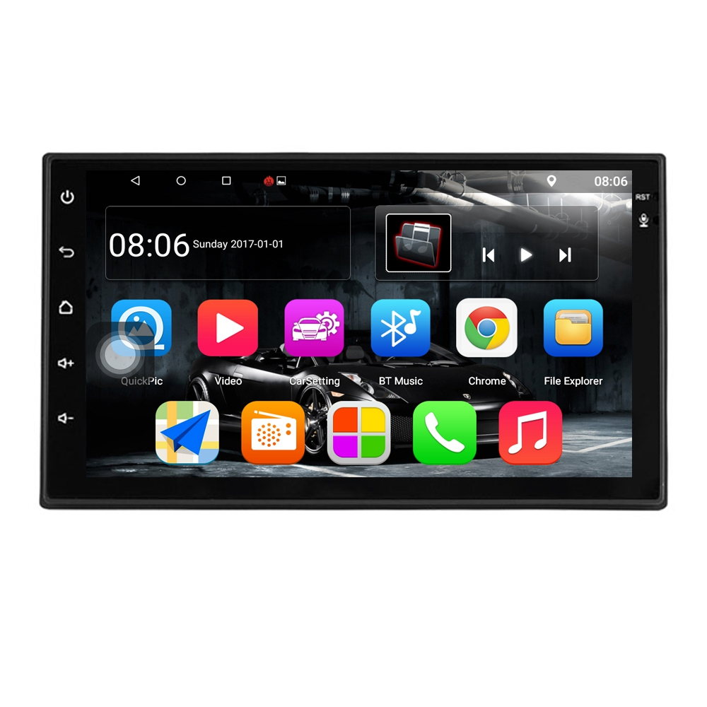 Android 7.1 Car Stereo 7 Inch 1024x600 1080P Quad Core 2Din Android Head Unit Gps Navigation Audio Radio 1G+16G