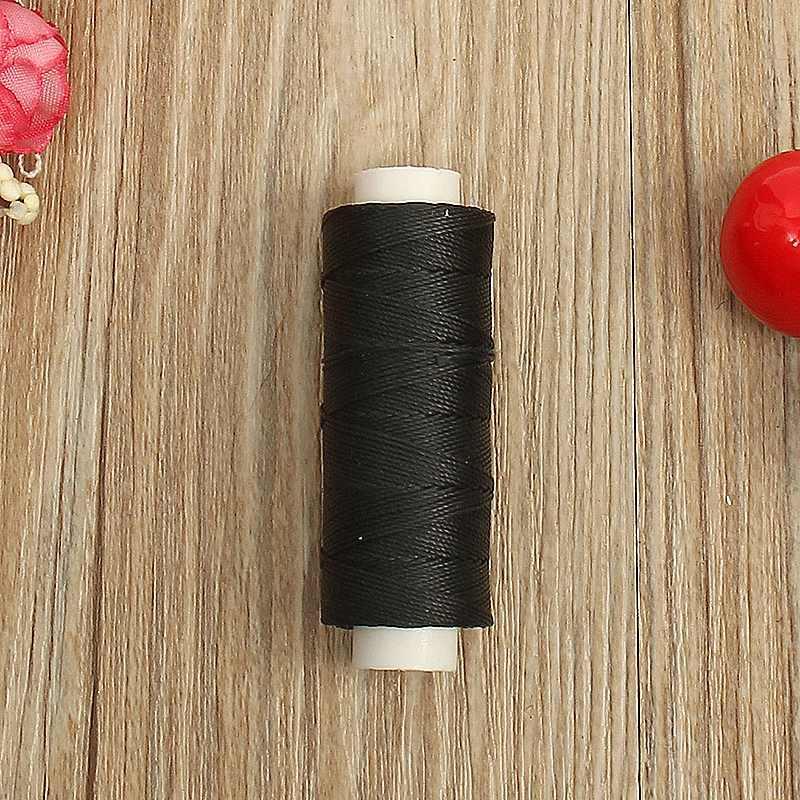Durable 50 metros 0,45mm hilo encerado de costura de cuero para DIY herramienta de artesanía hilo para coser a mano hilos de coser Multicolor