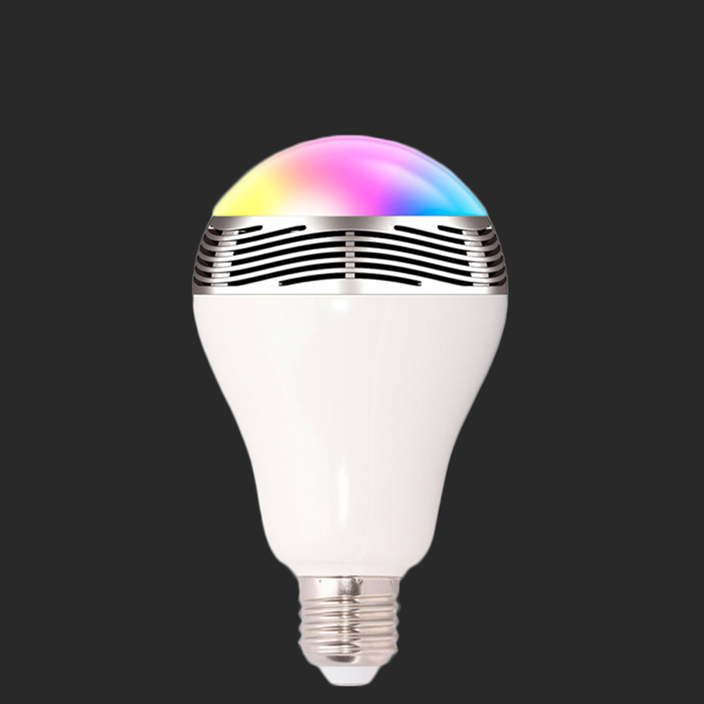 1 pièces intelligent bluetooth haut-parleur led ampoule musique jouant dimmable smartphone App télécommande sans fil led Bluetooth éclairage