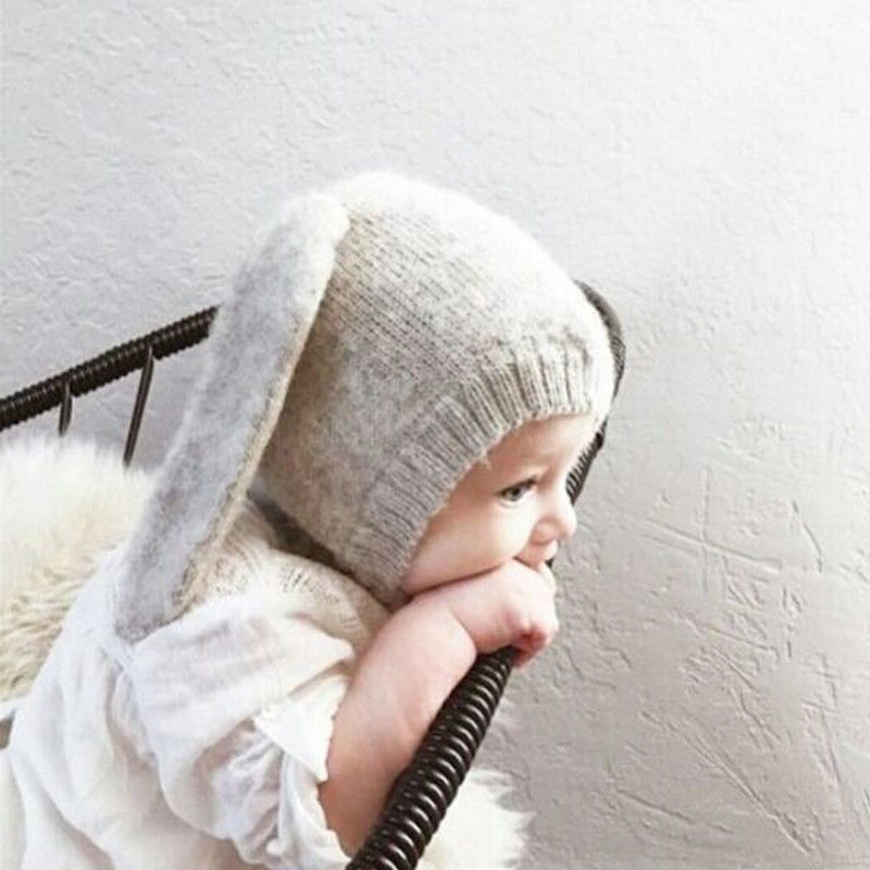Men's Skullies & Beanies Bnaturalwell Crochet Baby Girl Easter Hat Boys Girl Floppy Bunny Ears Beanie Hat Baby Shower Gift Handmade Hat Photo Prop H007 Wide Varieties