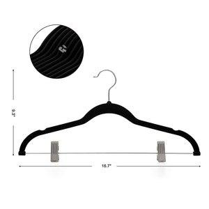 Image 5 - 8 peças de veludo roupas cabides premium antiderrapante cabides com clipes para vestido jaquetas casacos roupas calças