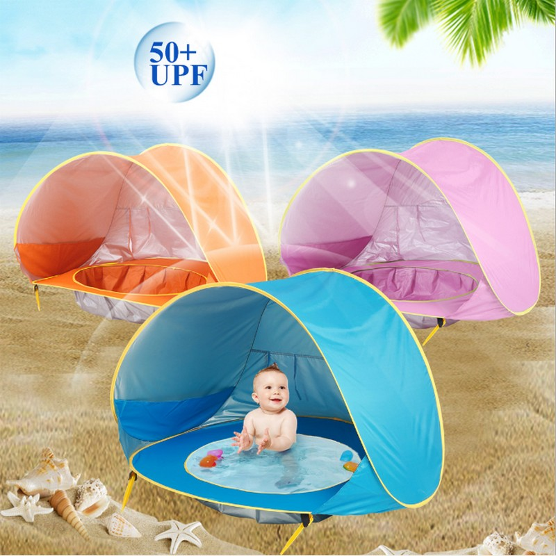 Baby beach tent uv-protecting sunshelter with a pool waterproof pop up awning tent kid outdoor camping sunshade beach dropship