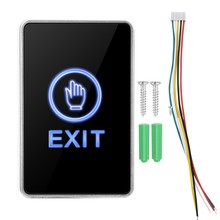 Touch Sensor Pannel GEEN NC COM Exit LED Licht Toegangscontrole Switch Knop voor Home Security(China)