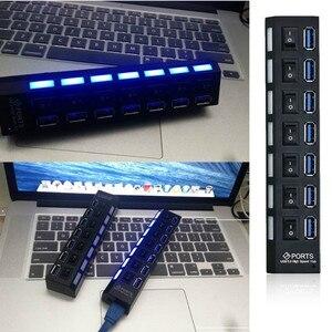 Image 5 - USB HUB 3,0 4/7 Порты Micro USB 3,0 концентратор разветвитель с Мощность адаптер USB hab высокое Скорость 5 Гбит/с USB разветвителем 3 концентратор для ПК