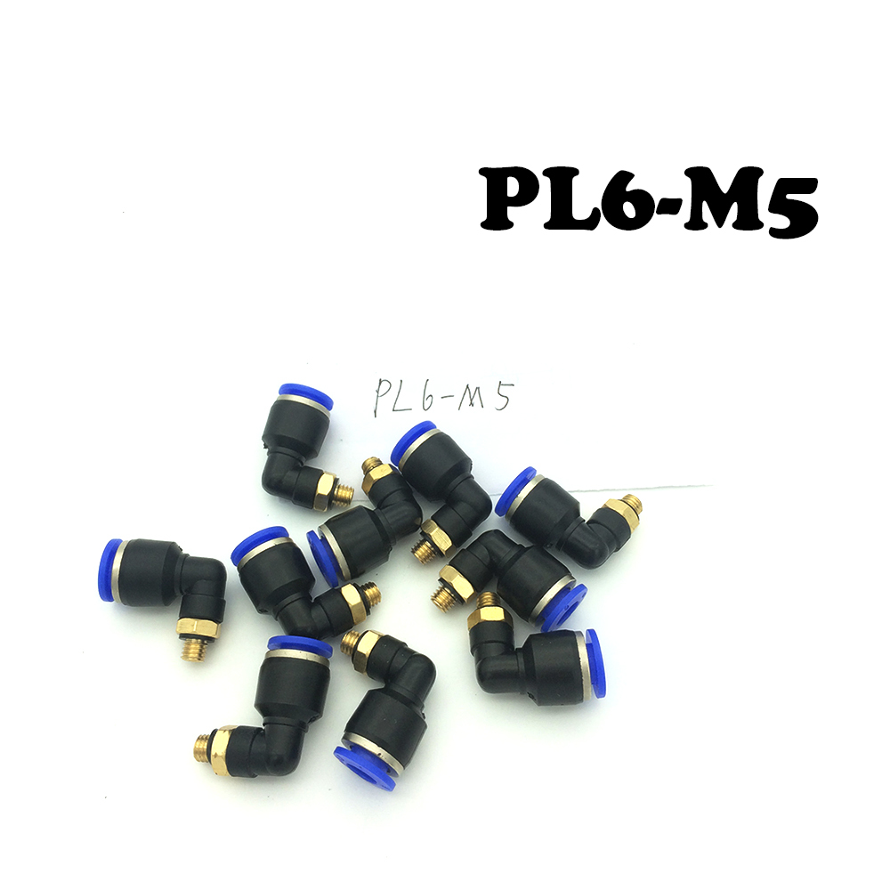 Free Shipping 20Pcs/lot Pneumatic quick pneumatic connector quick insert Mini Mini right elbow PL6-M5.Free Shipping 20Pcs/lot Pneumatic quick pneumatic connector quick insert Mini Mini right elbow PL6-M5.