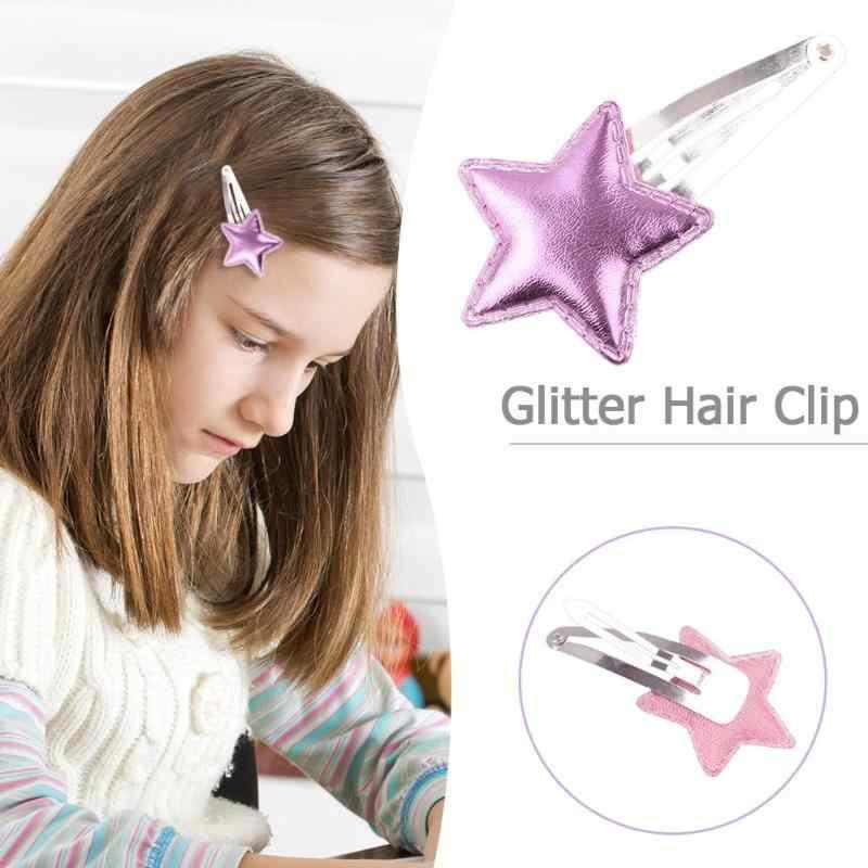Для девочек красочные металла Snap Заколки для волос с маленький серебряный мини-snap волос заколка на голову контакты Sleepies волос Слайды школы