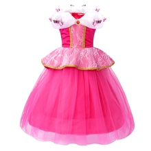 AmzBarley Girls Aurora Princess Costume Halloween Cosplay Dress Up Butterflies Lace Birthday Party tutu Toddler Ball Gowns