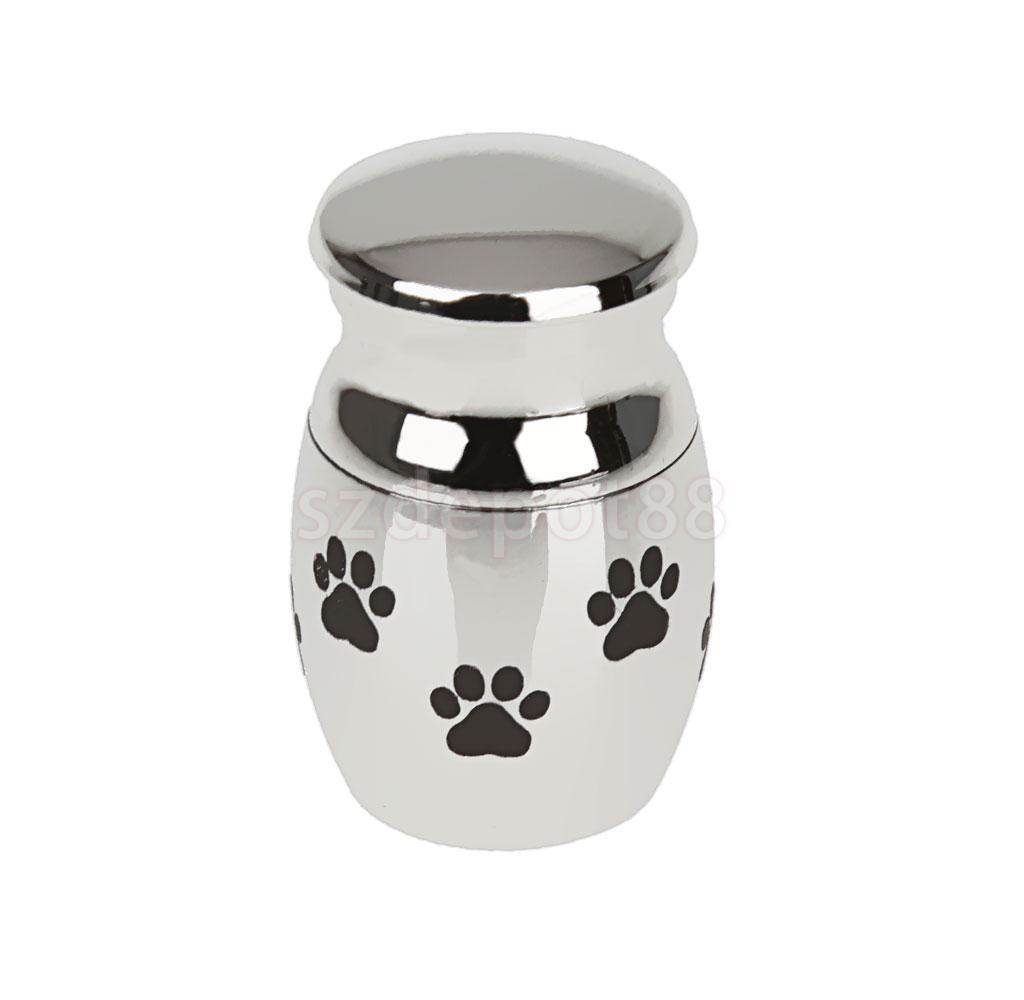 Pet Dog Paw Pattern Stainless Steel Cremation Urn Ash Holder Memorial Container Pendant Jewelry