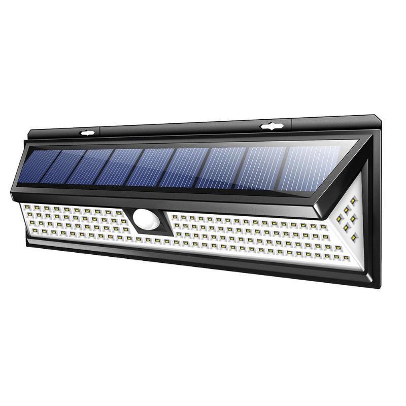 118LED 1000LM SMD lámpara Solar impermeable al aire libre iluminación luces de jardín patio PIR Sensor de movimiento LED de emergencia lámpara Solar de la pared de la